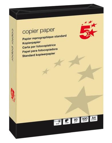 5 Star Office A4 CopierPpr Ye 80gsmPk500