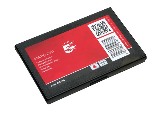 5 Star Stamp Pad 110x70mm Red
