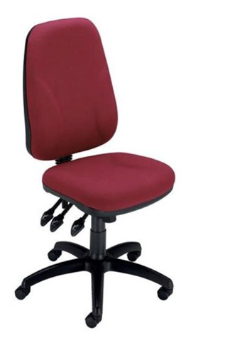 Trexus Intro Maxi Operator Chair Asynchronous High Back H590mm W530xD470xH480-610mm Claret