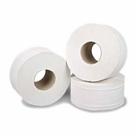 2Work Mini Jumbo Roll 2 Ply White 92mmx200m Pk 6 J27200