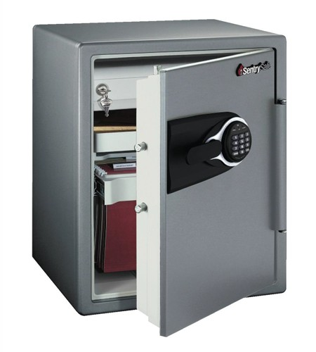 Sentry Fire Water and Security Safe Electronic 1hr UL/ETL-rated 56.6 Litre W472xD491xH603mm Ref MS5635