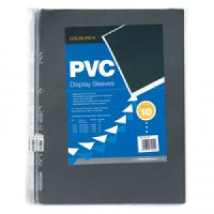 Goldline Display Sleeves Polypropylene Reinforced 150 Micron 3 Hole A3 Clear Ref PDSA3Z [Pack 10]