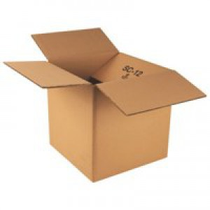 Packing Carton Single Wall Strong Flat Packed 305x229x229mm [Pack 25]