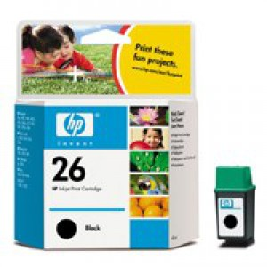 Hewlett Packard [HP] No. 26 Inkjet Cartridge Page Life 800pp 40ml Black Ref 51626AE