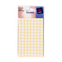 Avery Packets of Labels Diam.8mm White Ref 32-001 [10x624 Labels]