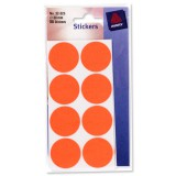 Avery Labels Packet56 30mmDia Red 32-326