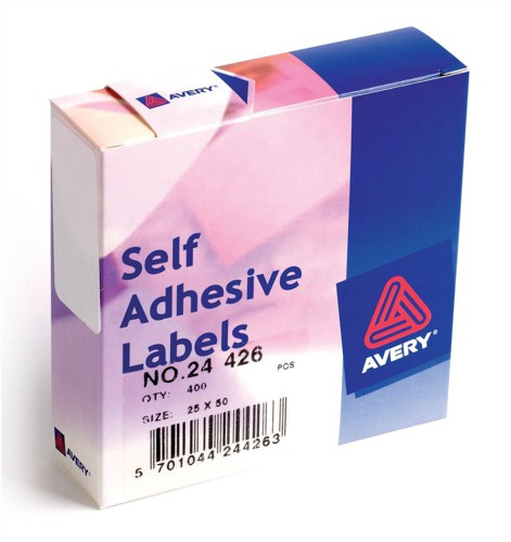 Avery Label Dispenser for 25x50mm White Ref 24-426 [400 Labels]