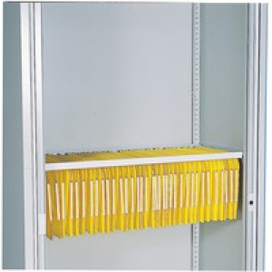 Bisley Lateral Filing Rail for Cupboard Grey Ref BUR