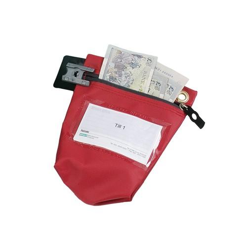 Versapak Cash Bag Tamper-Evident Zip Heavyweight Material Small 178x50x152mm Red Code CCB0