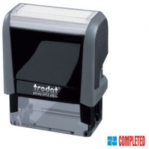 Trodat Office Printy Stamp Self-inking - Completed - 18x46mm Reinkable Red and Blue Ref 54347