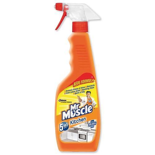 Mr Muscle Trigger Kit Lemon 5in1 Spray 500ml Code 98345