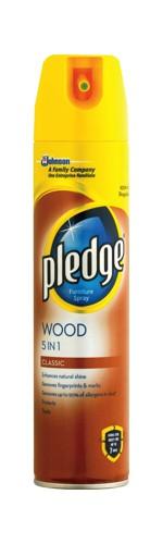 Pledge Wood 5 in 1 Classic Furniture Polish Aerosol Spray 300ml Ref 97974