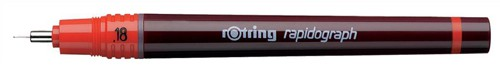 Rotring Rapidograph Pen for Precise Line Width to ISO 128 and ISO 3098/1 0.18mm Nib Ref S0203150