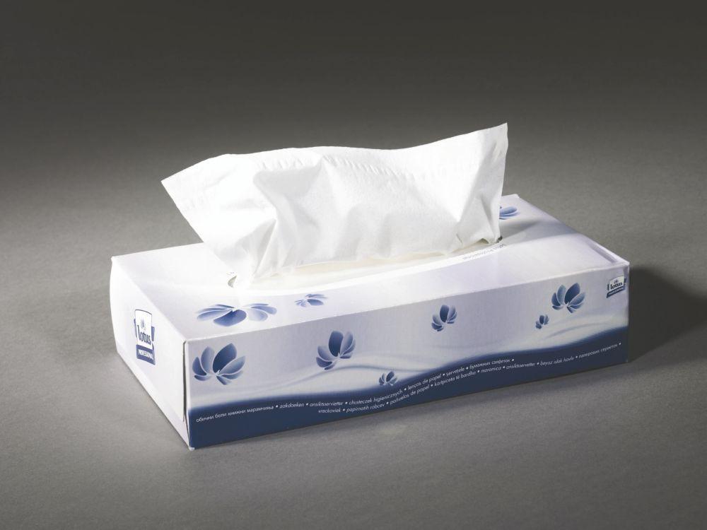 Lotus Regular Facial Tissue Box White 2 Ply 150 Sheets/Pack 24 Packs/Carton