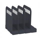 Avery Basics Book Rack Modular Interlocking Base 4 Sections 200x183x190mm Black Code 1136Blk