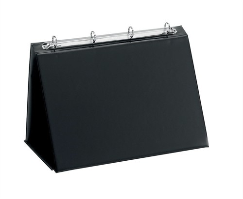 Easel Presenter Collapsible Flip Over 4 Ring 20mm Landscape A3 Black