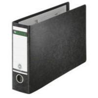 Leitz Board Lever Arch File Oblong Landscape 77mm Spine A4 Black Ref 1074-00-95 [Pack 4]