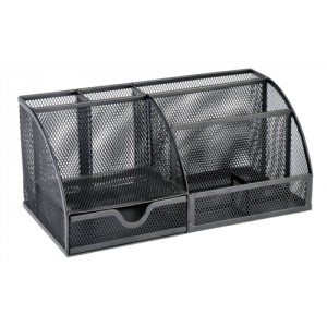Large Desk Organiser Mesh Scratch Resistant with Non Marking Rubber Pads Black