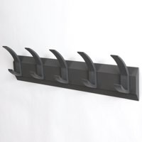 Image for Hat and Coat Wall Rack with Concealed Fixings 5 Hooks Graphite