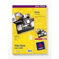 Avery Media Labels Laser Video Spine 16 per Sheet 145x17mm Ref L7674-25 [400 Labels]