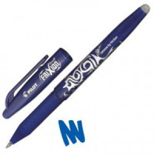 Pilot FriXion Rollerball Pen with Eraser and Rewriter 0.7mm Tip 0.4mm Line Blue Code 224101203