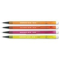 Paper Mate Non-Stop Automatic Pencil HB Lead Assorted Neon Barrels Ref S0187204 [Pack 12]