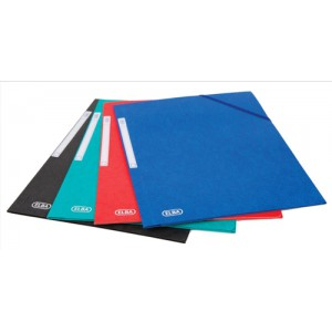 Elba Folder Elasticated 3-Flap 500gsm for 300 Sheets A4-Foolscap Assorted Ref 100200976 [Pack 10]