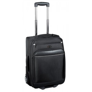 Lightpak Executive Overnight Trolley with Detachable Laptop Case Capacity 17in Nylon Black Ref 92700