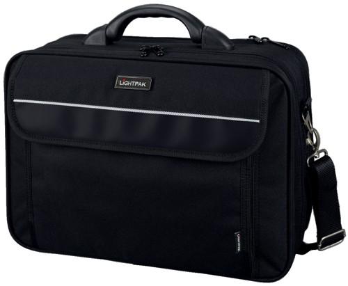 Lightpak Arco Laptop Bag Padded Nylon Capacity 17in Black Code 46010
