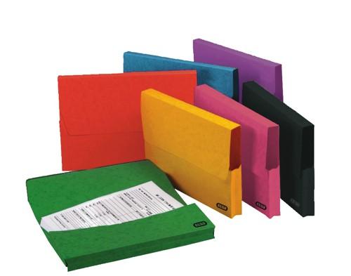 Elba Premium Document Wallet Capacity 38mm Foolscap Assorted Ref 100090134 [Pack 25]