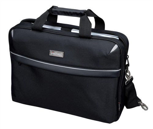 Lightpak Laptop Bag Top Load with 15in Laptop Compartment Nylon Black Ref 46112