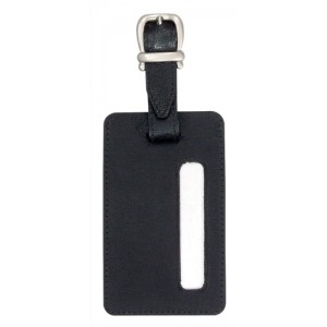 Alassio Luggage Tag 115x70mm Leather-look Black Code 43115