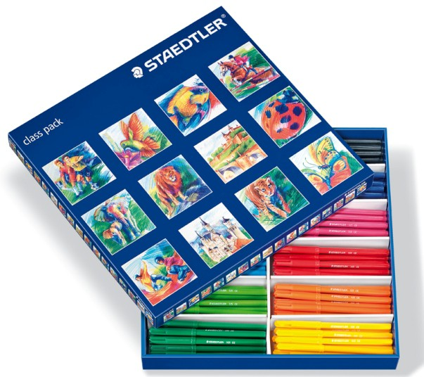 Staedtler Noris Club Fibre-Tip Fine Nib Pen Assorted Colours - PK144 (325 C144)