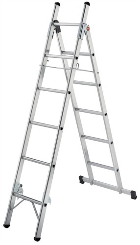 Convertible Household Ladder 3 Way 5 Tread Capacity 150kg 5.4kg