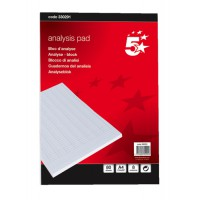 Image for 5 Star Analysis Pad Ruled 70gsm 8 Cash Column 80 Leaf A4 Ref 100080289