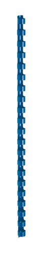 5 Star Binding Combs Plastic 21 Ring 75 Sheets A4 10mm Blue [Pack 100]