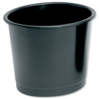 Image for 5 Star Waste Bin Polypropylene 14 Litres D304xH254mm Black