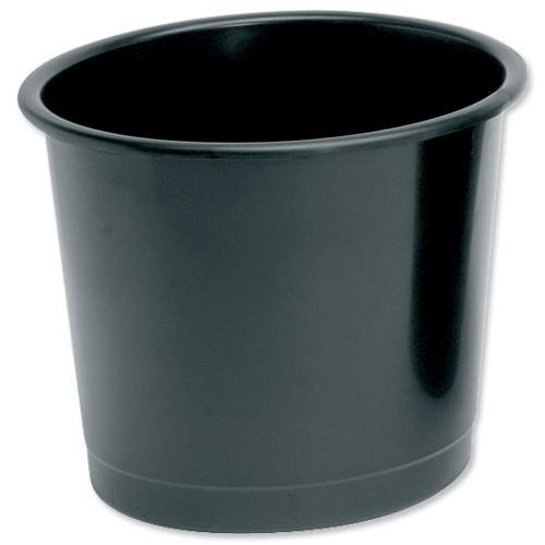 5 Star Plastic Waste Bin Black