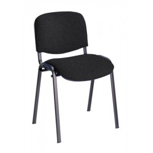 Trexus Stacking Chair Upholstered with Shaped Seat W480xD420xH500mm Charcoal