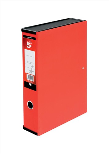 5 Star Office Box File Fcap Red