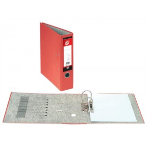 5 Star Office Lever Arch File Fcap Red