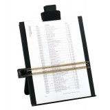 5 Star Desktop Copyholder with Line Guide Ruler A4 Black