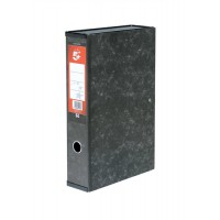 Image for 5 Star Box File Lock Spring with Ring Pull and Catch 75mm Spine Foolscap Cloud Effect