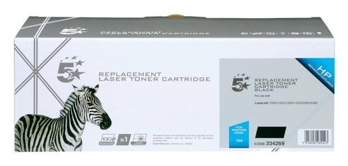 5 Star Compatible Laser Toner Cartridge Page Life 2500pp Black [HP No. 15A C7115A Alternative]