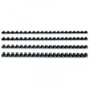 GBC Binding Combs Plastic 21 Ring 45 Sheets A4 8mm Black Ref 4028174 [Pack 100]