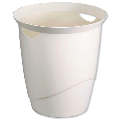 Durable Trend Waste Bin White 1701710010
