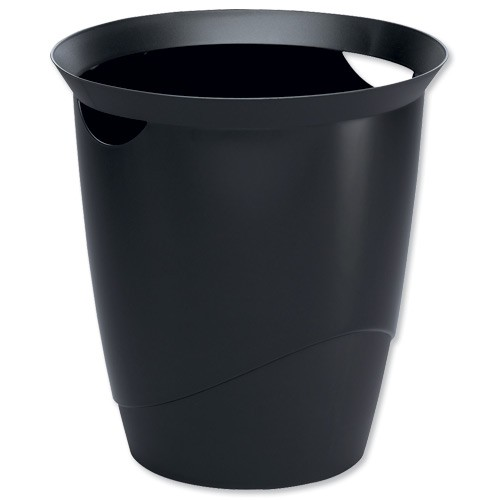 Durable Vivid Waste Bin Black 1701710060
