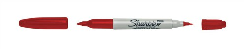 Sharpie Twin Tip Marker Red Ref S0811110 [Pack 12]