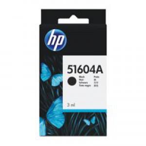 Hewlett Packard [HP] Inkjet Cartridge Page Life 500pp 3ml Black Ref 51604A