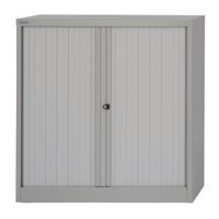 Image for Bisley Tambour Cupboard Steel Side-opening H1016mm Grey Ref AST40W-73
